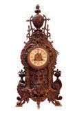 Vintage Wood Clock — Stock Photo