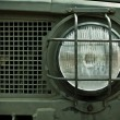 Stock Photo: Headlamp of Military Truck