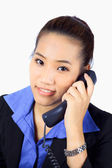 Young Business woman on the phone — Stock Photo