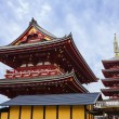 The back of Hozomon and five stories pagoda at Sensoji Temple in Tokyo — Stock Photo