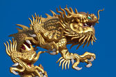 Chinese Dragon on the roof of a Chinese temple — Stock Photo