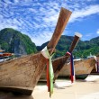 Long Tail Boats at Phi Phi Island, Thailand — Stock Photo