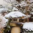 Stock Photo: Ornament of Japanese Garden With Snow Covered