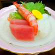 Raw Tuna and Shrimp Sahimi  — Stock fotografie
