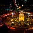Clock Tower with Traffic Circle — Stock Photo