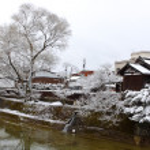 Miyagawa River Surrounded in Hida - Takayama — Stock Photo