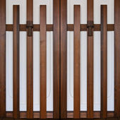 A pair of Japanese style doors — Stock Photo