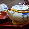Japanese White Cereamic Tea Set — Stock Photo