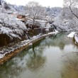 Miyagawa River Surrounded with Snow  — Stock Photo