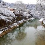 Miyagawa River Surrounded with Snow — Stock Photo