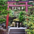 Torii gate at Toshogu Shrine in Nikko — Stock Photo