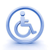 Isolated 3D Render of Handicap Sign — Stock Photo