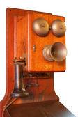 孤立的老式电话 — 图库照片