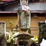 Jizo Bodhisattva at Hida Kokubunji Temple in Takayama — Stock Photo