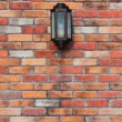 Lamp on a Brick Wall  — Stock Photo