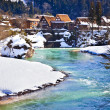 Shogawa River at Ogimachi Village in Shirakawago — Stock Photo