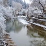 Miyagawa river in Takayama — Stock Photo