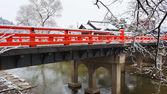 高山の橋の中橋 — ストック写真