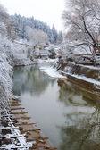 Río miyagawa en takayama — Foto de Stock