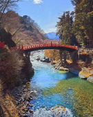 Shinkyo (Sacred Bridge) in Nikko, Japan — Stock Photo