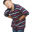 Asiboy with abdominal pain — Stock Photo #31978965