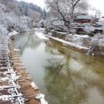 Miyagawa River in Hida - Takayama — Stock Photo