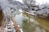 Rivière miyagawa en hida - takayama — Photo