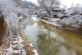 Río miyagawa en hida - takayama — Foto de Stock