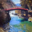 Shinkyo (Sacred Bridge) in Nikko — Stock Photo