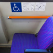 Handicapped Seat on A Japanese bus in Kanazawa — Stock Photo