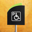 Stock Photo: Handicap Parking Sign