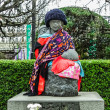 Stock Photo: The statue of mother and children at Sensoji Temple in Tokyo