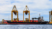 Loaded Freight Ship — Stock Photo
