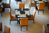 Dining Tables in a Restaurant — Stock Photo