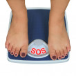 Weight scale — Foto Stock