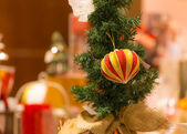 Variuos colorful ornaments decorated on a christmas tree — Stock Photo
