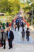 Pessoas em dazaifu tenmangu — Foto Stock