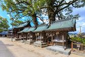 Pequeno santuário de madeira em dazaifu tenmangu em fukuoka — Foto Stock