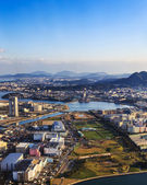 Fukuoka aerial view — Stock Photo