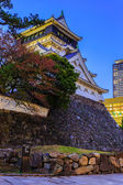 Kokura Castle In Kitakyusho Nearby Murasaki River In Fukuoka — Stock Photo