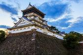 ホテルオークラ福岡紫川近くの kitakyusho で城 — ストック写真