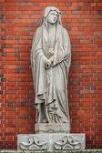 Virgin Mary's statue at Urakami Cathedral in Nagasaki — Stock Photo