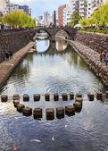 Meganebashi Bridge in Nagasaki — Stock Photo