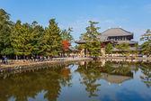 Grande salão de buda no templo todaiji, em nara — Fotografia Stock