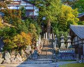 Vista de nigatsu-faça hall de todaiji complexo em nara — Fotografia Stock