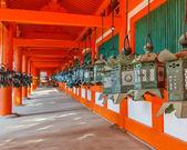 Bronze Lanterns at Kasuga Taisha in Nara — Stock Photo