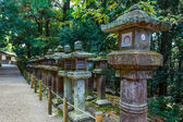 Stone Lanterns at Kasuga Taisha Shrine in Nara — Stock Photo