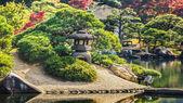 Koraku-en garden in Okayama on of the three great gardens in Jap — Stock Photo