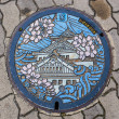 Manhole Cover in Osaka — Stock Photo #39684059