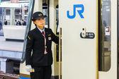 Train Conductor in Kobe — Stock Photo